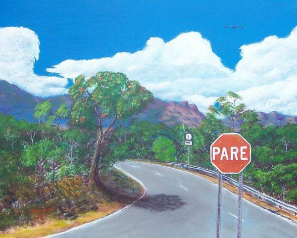 Painting - Stop Sign by Tony Rodriguez