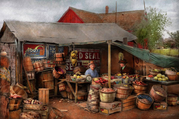 Photograph - Store - Fruit - Grand Dad's Fruit Stand 1939 by Mike Savad