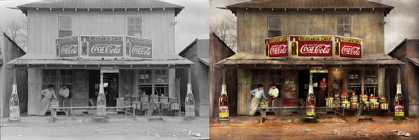 Wall Art - Photograph - Store - Grocery - Mexicanita Cafe 1939 - Side By Side by Mike Savad