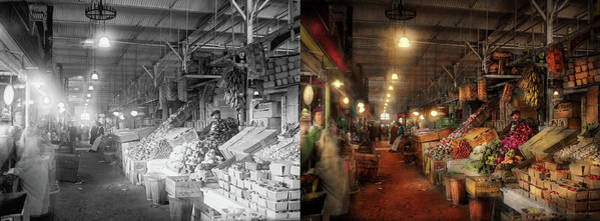 Photograph - Store - Grocery - The First Superstore 1922 - Side By Side by Mike Savad