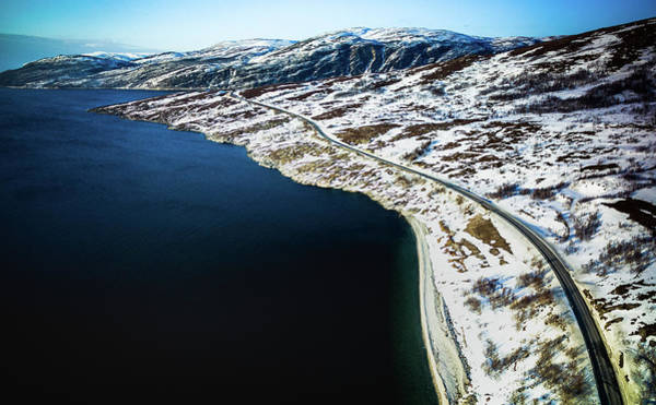 Photograph - Storekorsnes Aerial Over Altafjord Finnmark Norway by Adam Rainoff