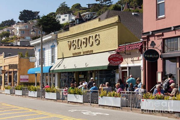 Photograph - Stores And Restaurants On Bridgeway Sausalito California 5d2893 by Wingsdomain Art and Photography