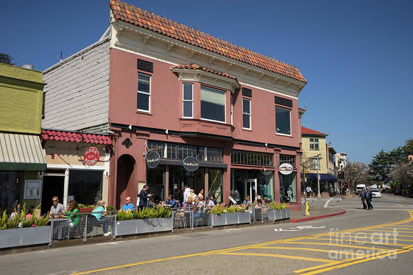 Photograph - Stores And Restaurants On Bridgeway Sausalito California Dsc6028 by Wingsdomain Art and Photography