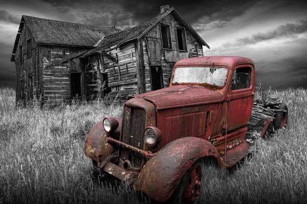 Photograph - Stories To Be Told With Selective Red Color by Randall Nyhof