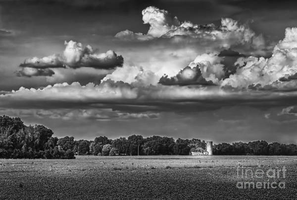 Horse Farm Photograph - Storm A Coming-bw by Marvin Spates