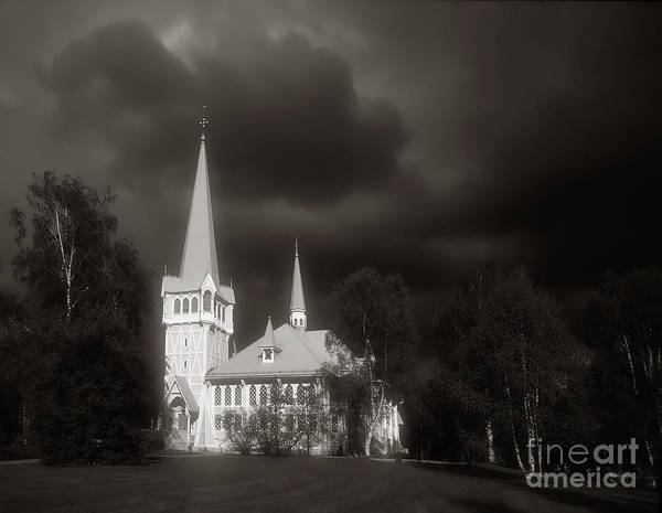 Stormcloud Photograph - Storm And Church by Colin Woods
