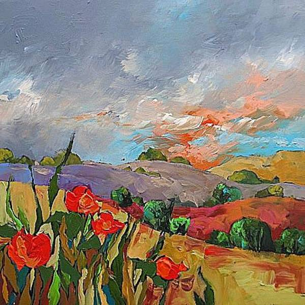 Monfort Painting - Storm Approaching by Linda Monfort