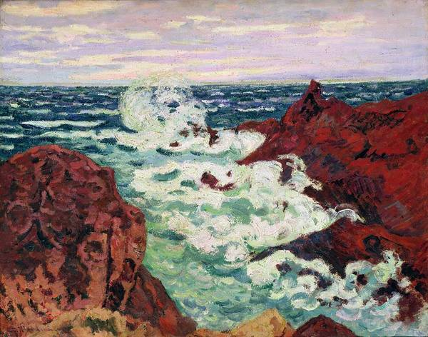 Azure Painting - Storm At Agay by Jean Baptiste Armand Guillaumin