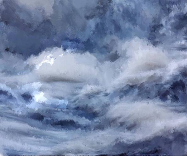 Painting - Storm At Sea by Mark Taylor