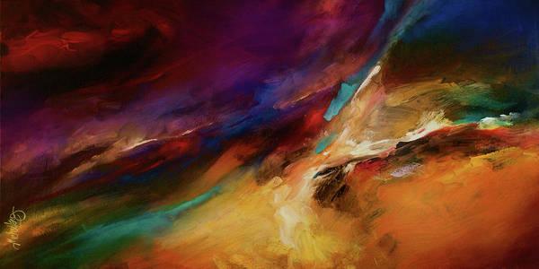 Wall Art - Painting - Storm At Sea by Michael Lang