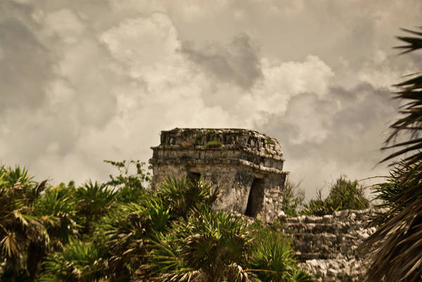 Solidity Photograph - Storm At Talum Ruins Mexico by Douglas Barnett