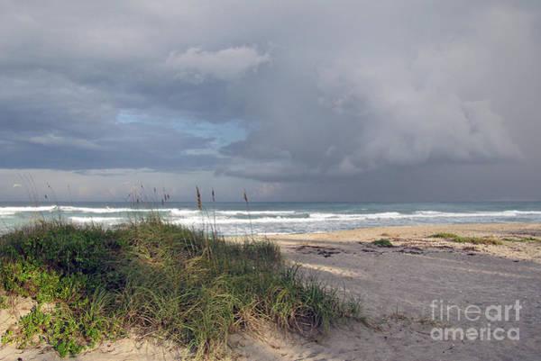 Pyrography - Storm Beyond The Sea Oats by Richard Nickson