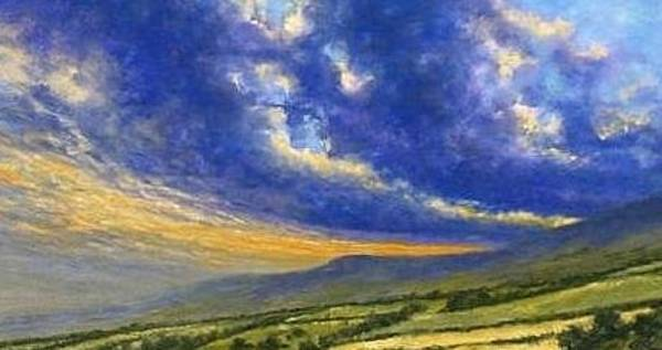 Country Scene Wall Art - Painting - Storm Brewing In Donegal by Jim Gola
