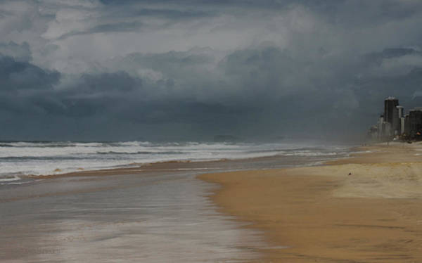 Photograph - Storm Brewing On The Gold Coast by Susan Vineyard