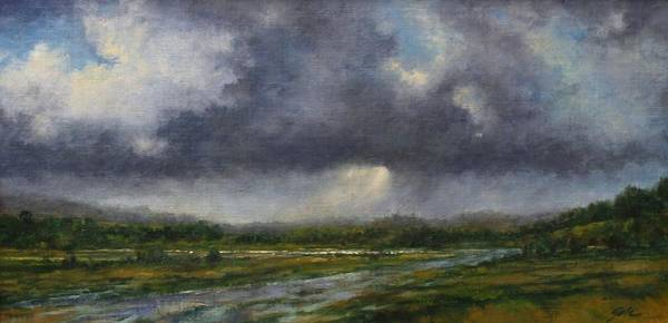 Rivers Wall Art - Painting - Storm Brewing Over The Refuge by Jim Gola