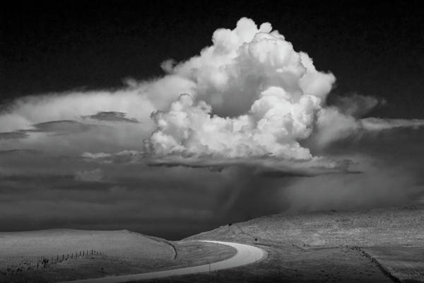 Photograph - Storm Brewing Up The Road by Randall Nyhof