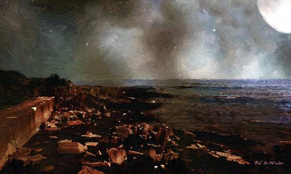 Painting - Storm-bruised Sky by RC DeWinter