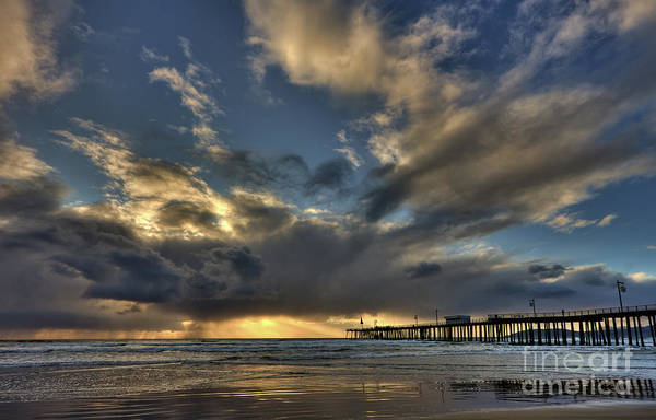 Photograph - Storm By Pismo Pier by Beth Sargent