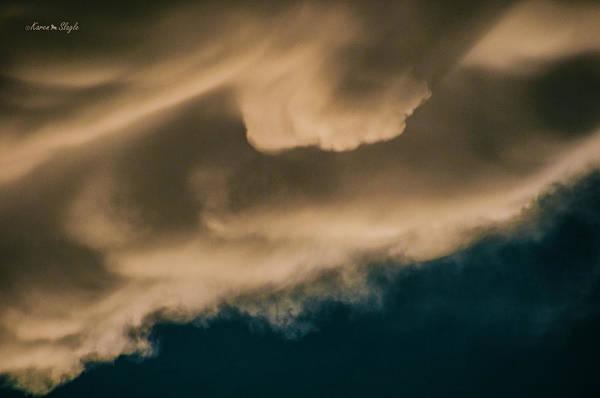 Photograph - Storm Cloud Abstract 1 by Karen Slagle