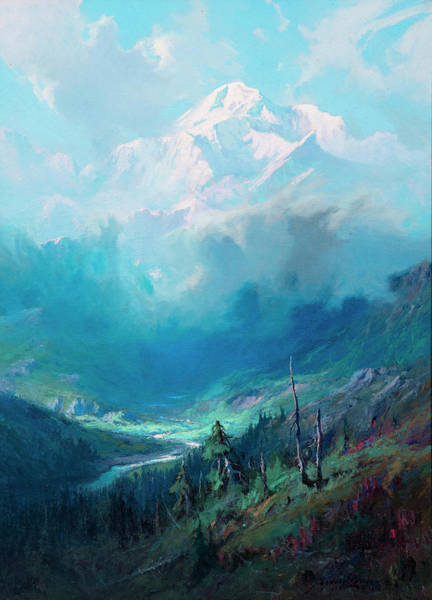 Wall Art - Painting - Storm Clouds, Mt. Mckinley by Sydney Mortimer Laurence