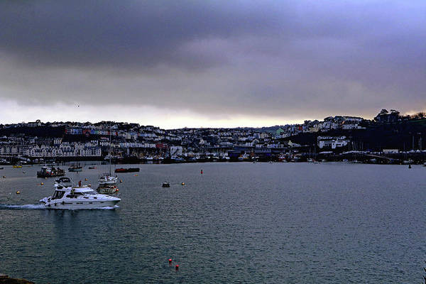 Photograph - Storm Clouds Over Brixham by Tony Murtagh