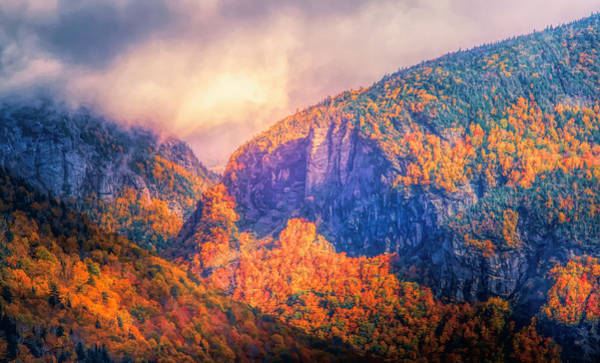 Mixed Media - Storm Clouds Over Crawford Notch In Autumn by Dan Sproul