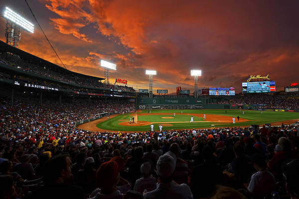 Storm Clouds Over Fenway Park Art Print