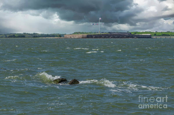 Photograph - Storm Clouds Over Fort Sumter by Dale Powell