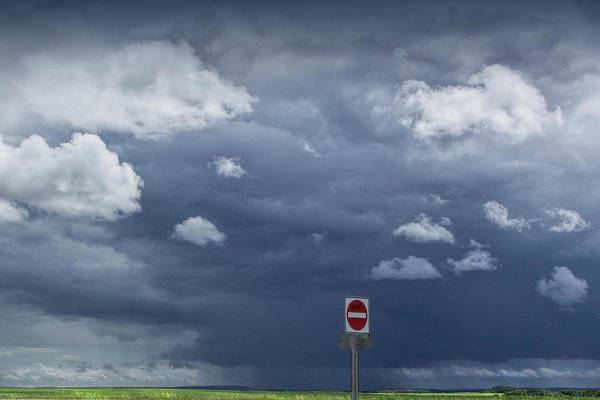 Photograph - Storm Clouds Over Green Fields In Saskatchewan Canada by Randall Nyhof