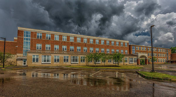 Photograph - Storm Clouds Over Milton High School by Brian MacLean