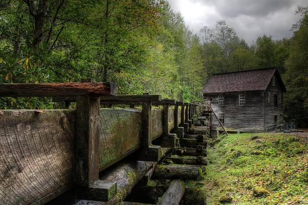 Photograph - Storm Clouds Over Mingus Mill by Carol Montoya