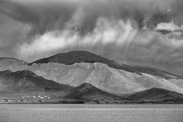 Photograph - Storm Clouds Over Mountain by Hitendra SINKAR