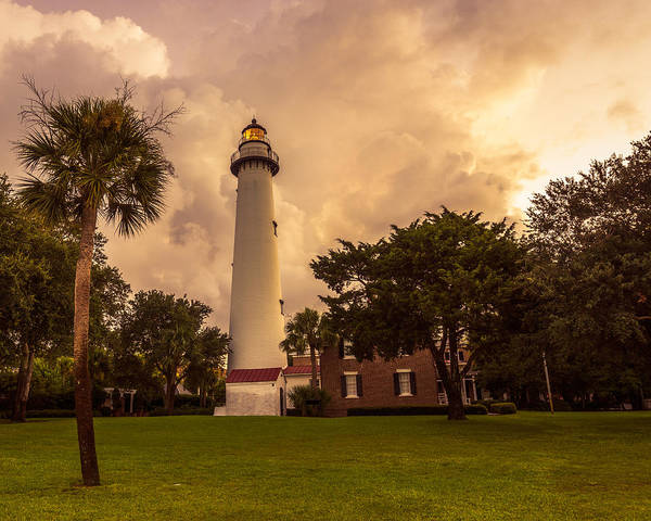 Photograph - Storm Clouds Over St. Simons Light by Chris Bordeleau