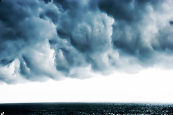 Photograph - Storm Clouds Over The Atlantic Ocean by Gina O'Brien