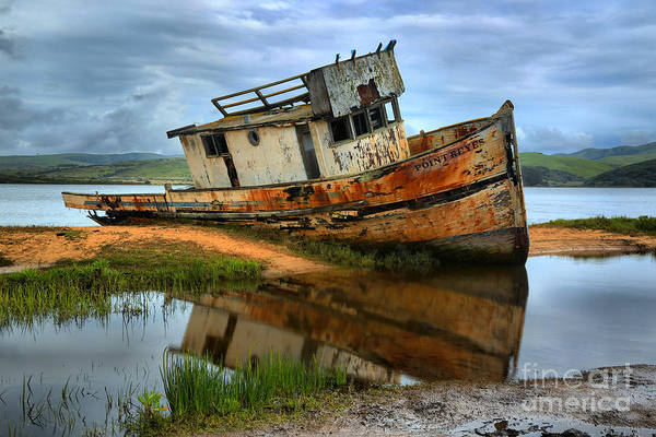 Photograph - Storm Clouds Over The S S Point Reyes by Adam Jewell