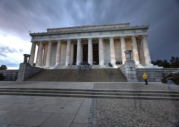 Photograph - Storm Clouds Over Washington Dc At The Lincoln Memorial by John King