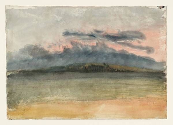 Wall Art - Painting - Storm Clouds Sunset With A Pink Sky by Joseph Mallord