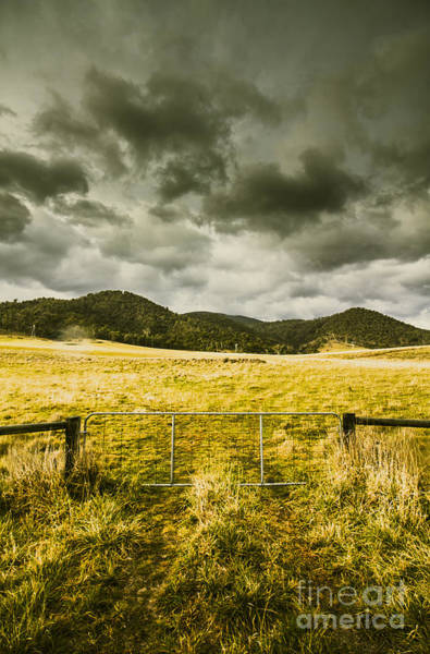 Grey Cloud Photograph - Storm Covered Winter Farmland by Jorgo Photography - Wall Art Gallery