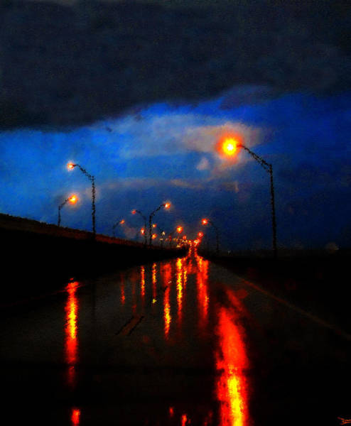 Gandy Wall Art - Painting - Storm Drive by David Lee Thompson