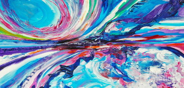 Dominate Painting - Storm In The Bay by Expressionistart studio Priscilla Batzell