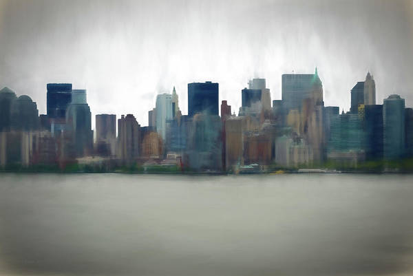 Digital Art - Storm In The City by OLena Art - Lena Owens