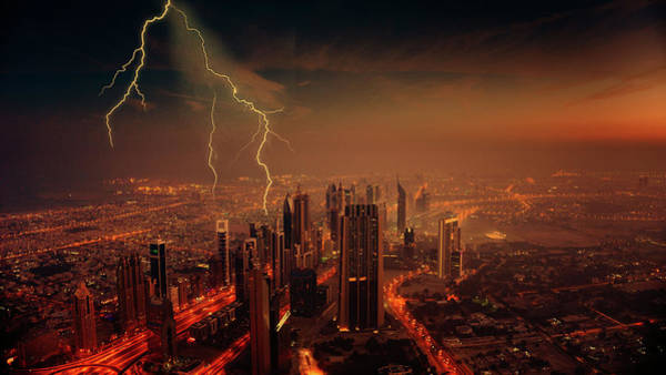 Photograph - Storm In The City by Ericamaxine Price