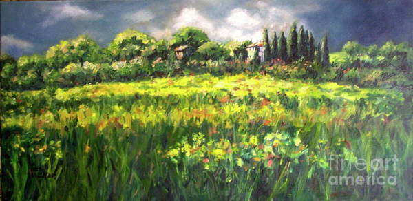 Painting - Storm In Tuscany by Patsy Walton
