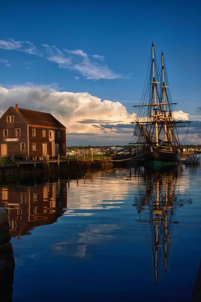 Pickering Photograph - Storm Leaves Reflection On Salem by Jeff Folger