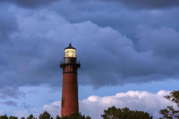 Storm Looms Near Currituck Beach Lighthouse Art Print