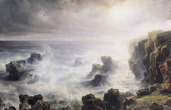 Rocky Coast Painting - Storm Off The Coast Of Belle Ile by Jean Antoine Theodore Gudin