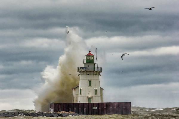 Wall Art - Photograph - Storm On Lake Erie by Richard Kopchock