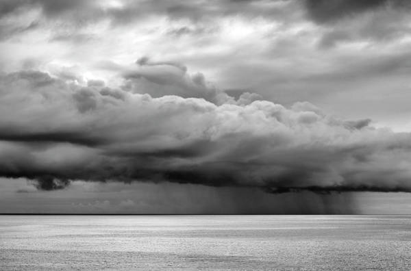 Wall Art - Photograph - Storm On The Horizon In Black And White by SharaLee Art