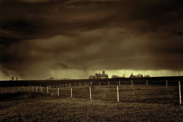 Photograph - Storm On The Horizon In Sepia by Dale Kauzlaric