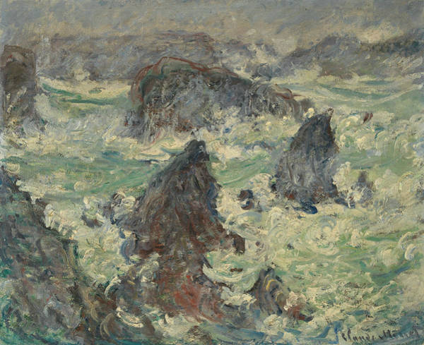 Painting - Storm On The Sides Of Belle-ile by Claude Monet